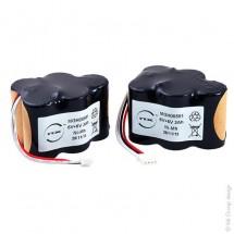 Batterie aspirateur 10x SC 2 * 5S1P 6V 3000mAh JST (lot de 2 batteries)