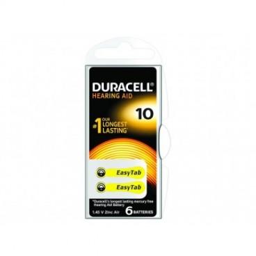 Pile auditive Duracell DA10 Pack de 6